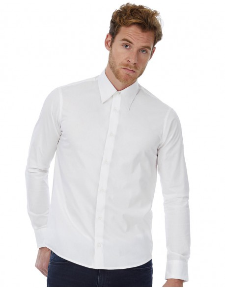 B&C CHEMISE 786.42 LONDON STRETCH SHIRT LS