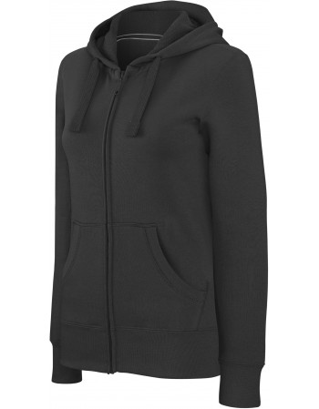 KARIBAN K464 - SWEAT-SHIRT ZIP CAPUCHE FEMME