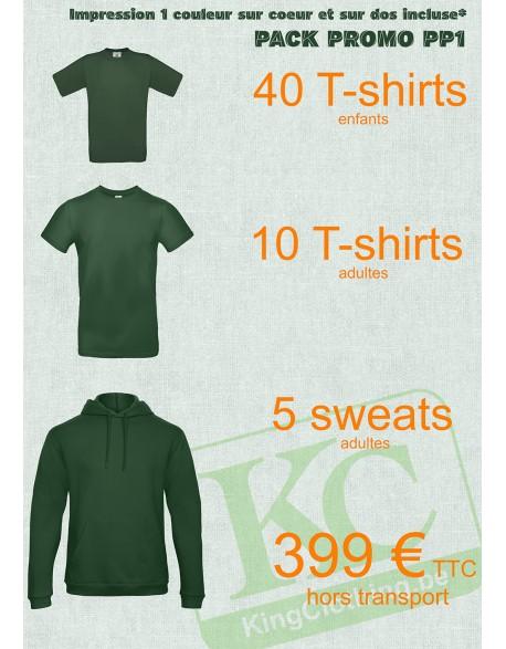 50 T-shirt et 5 sweat de couleurs et de qualités