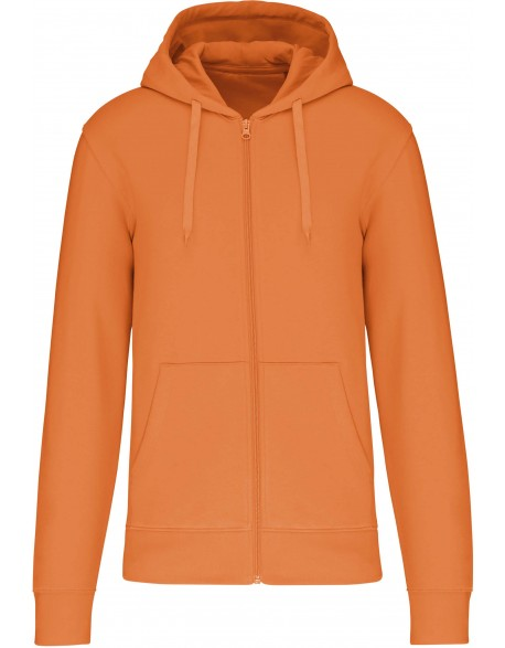 K4030 - Sweat-shirt à capuche écoresponsable à fermeture éclair homme