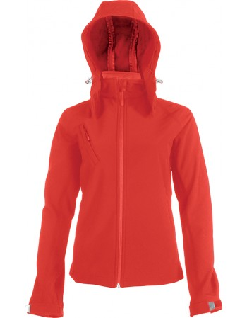 KARIBAN K414 LADIE'S HOODED SOFTSHELL JACKET